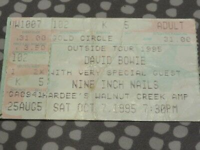 David Bowie - Nine Inch Nails Ticket - Raleigh - USA - Outside Tour 1995