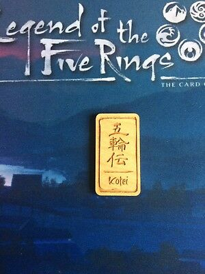 Legend of the Five Rings First Player Token Kotei L5R Promo Official LCG