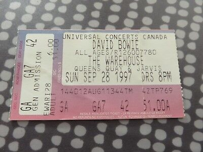 David Bowie - Ticket - Toronto Canada - 1997 Earthling Tour L@@K