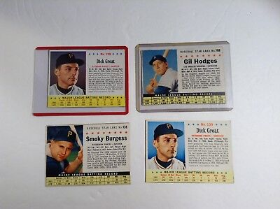 Four Vintage 1960s Post Cereal Baseball Cards