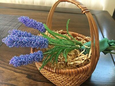 Beaded Lavender Flowers