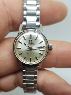 Vintage Omega Geneve Automatic Swiss Made Ladies Watch Working