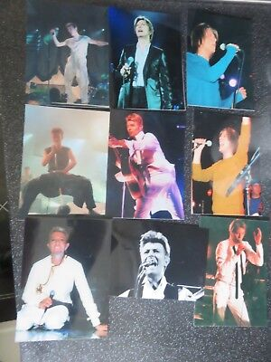 David Bowie - 9 Rare Private On Stage Unpublished Photos Plus 3 Mainman Letters