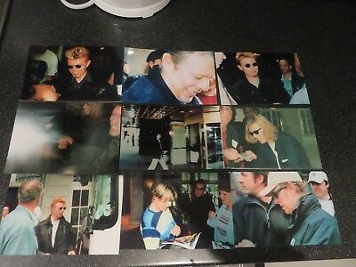 David Bowie - 9 Rare Private Off Stage Unpublished Photos Plus 1966 Contract wow