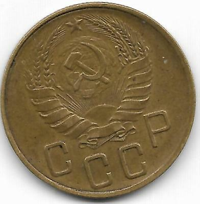 Russia 1940 5 Kopeks Coin - Xf Condition  - Bv$9