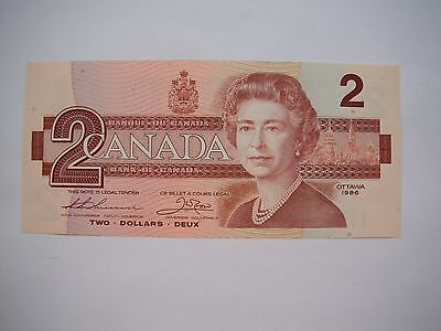 1986 CANADA Canadian $2 Two Dollar Bill Note GEM CU Prefix EGM6843430