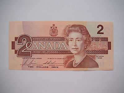 1986 CANADA Canadian $2 Two Dollar Bill Note GEM CU Prefix CBI5144330