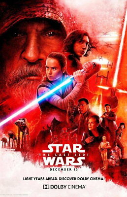 100501 Star Wars The Last Jedi Collector Decor WALL PRINT POSTER UK