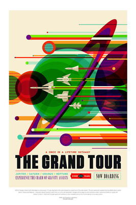 101309 The Grand Tour Outer Planets NASA Space Travel Decor WALL PRINT POSTER UK