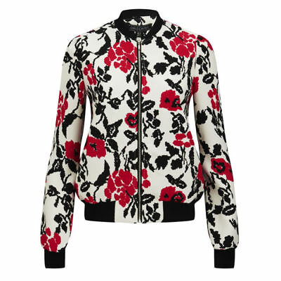 NWT Girls on Film Floral Biker Bomber Jacket Size 14