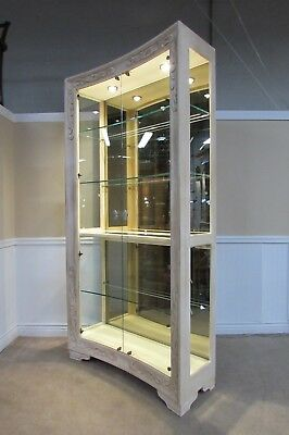 Henredon Oversize Curio, China Cabinet, Lighted Display, Mirrored Back,  Quality