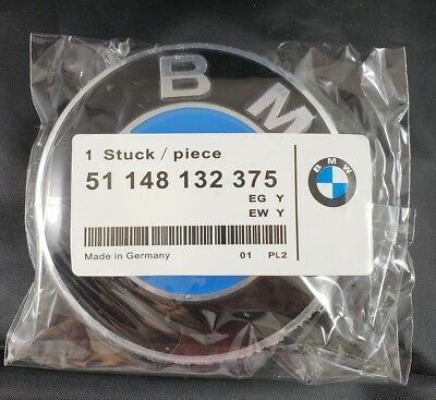 BMW Emblem 82mm Genuine Hood/Trunk Replacement - Grommets Not Necessary (2 Pin)