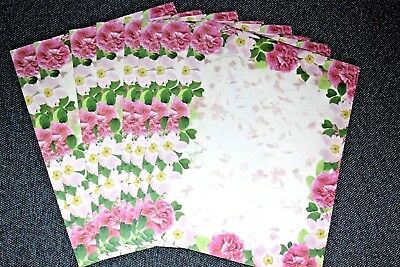 25 Sheets Computer Stationary ~ Cotillion Flowers  by Geographics Geopaper