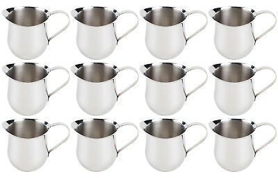 (12 Pack) 3-Ounce Stainless Steel Bell Creamer, 90 ml. Coffee Creamer Pitchers