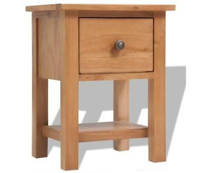 Solid Oak Wood Furniture Nightstand Bedside Storage Cabinet Table Drawers Brown