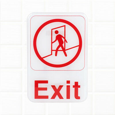 Exit Sign - White and Red, 9 x 6-inches Fire Exit / Fire Safety Signs