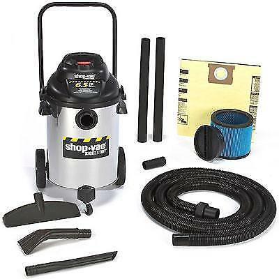 Shop-Vac 9626510 Right Stuff SS 10-Gallon 6.5 Peak HP Canister Vacuum Cleaner