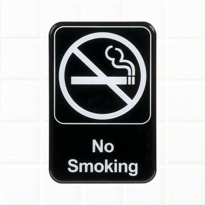 """No Smoking Sign for Door / Wall - Black and White, 9 x 6"""" Restaurant Compliance"""