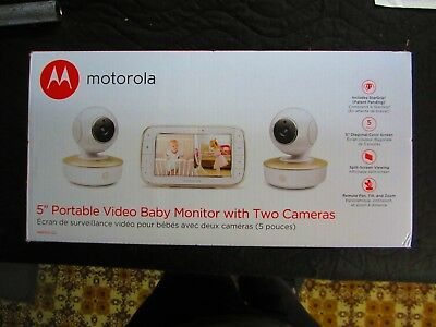 "*NEW* Motorola 5"" Video Baby Monitor with Two Cameras (MBP50-G2)"