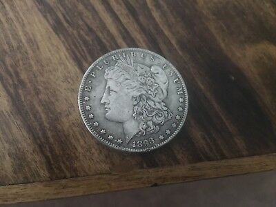 1893 Two Face Morgan Dollar, one troy ounce silver clad