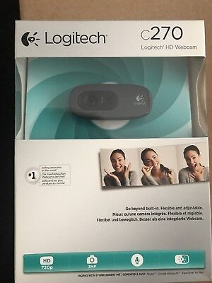 LOGITECH C270 HD 720p 3MP WebCam Camera USB 2.0 Boxed - Y99