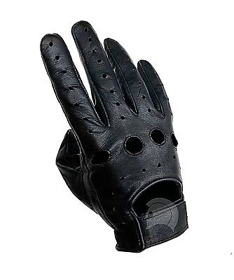 New Biker Police Leather Chauffeur Driving Gloves Black XS S M L XL XXL
