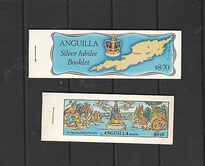 2 MUH Booklets from Anguilla.  See photo & Description Below
