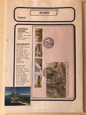 Christmas Islands 1993 Scenic Views Fdc - Scenes Theme On Information Sheet