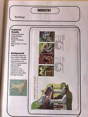 Christmas Islands 2006 Heritage Buildings Fdc Industry Theme Information Sheet