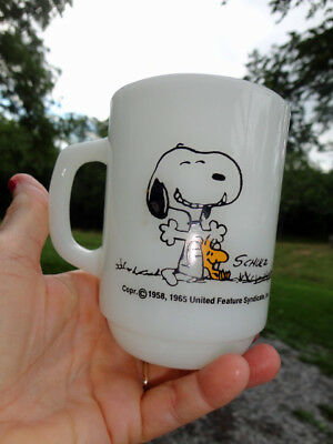 Vintage Peanuts Snoopy  This Has Been A Good Day! Anchor Hocking Cup