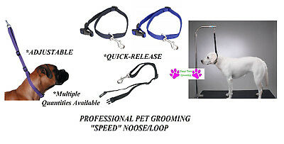 SPEED NOOSE Nylon Adjustable RESTRAINT LOOP For Pet Grooming Table Arm Bath Tub