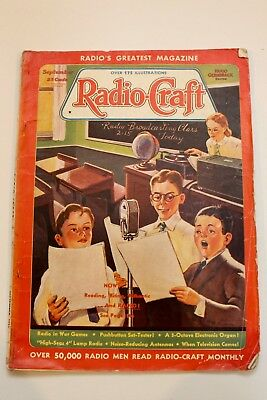 1938 - Radio Craft Magazine - Vintage Radio - Vintage Advertising - GVC