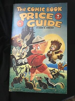 The OVERSTREET COMIC BOOK PRICE GUIDE #7 1977 Carl Barks cover art Porky Pig