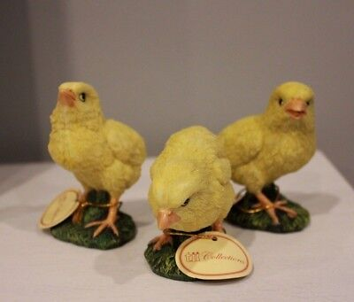 Lot of 3 Tii Collections Resin Figurines Chicks Chickens NWT
