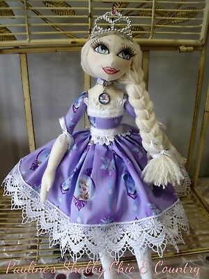 Handmade Elsa Art Doll inspired by Frozen OOAK