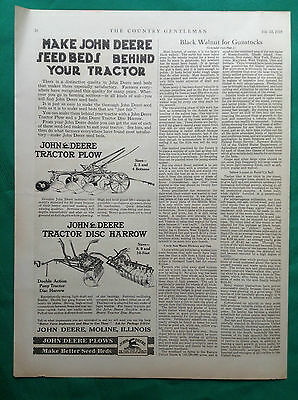 Lot of Country Gentleman Magazine Ads ~ John Deere Tractor Plow ~ Moline IL