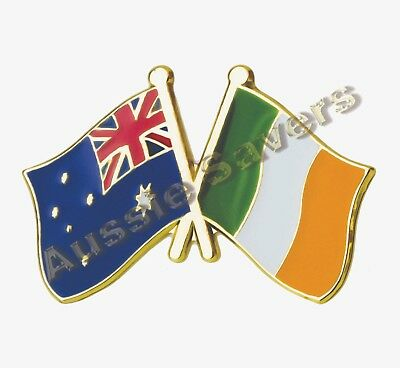 Australian / Ireland  Flag Hat Pin / Badge - Enamel Friendship Badge