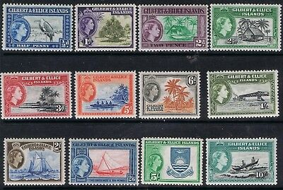 Gilbert and Ellice Islands 1956 Complete Definitives SG 64-75 MNH