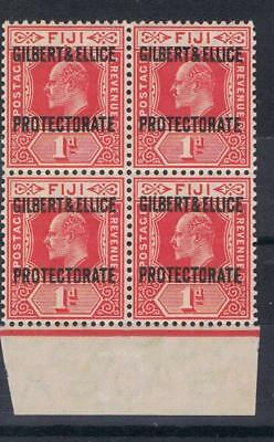 Gilbert and Ellice Islands 1911 1d Definitive Block of four SG 2 MNH