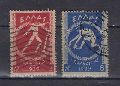Greece 1939 Pan Balkan Games 3dr and 8dr SG 529, 531 Used