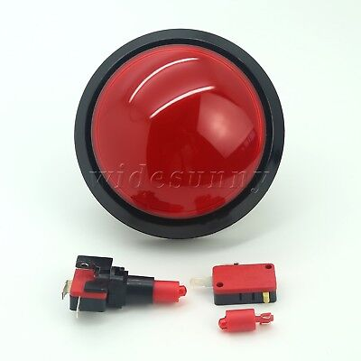 100mm Big Dome Self-resetting Push Button for Vending Machine Games Red