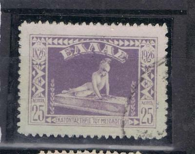 Greece 1926 Centenary of Mussolonghi 25l SG 405 Used