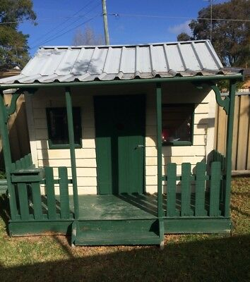 Australian Made Large Timber Cubby House Bonus Toy Kitchen Included