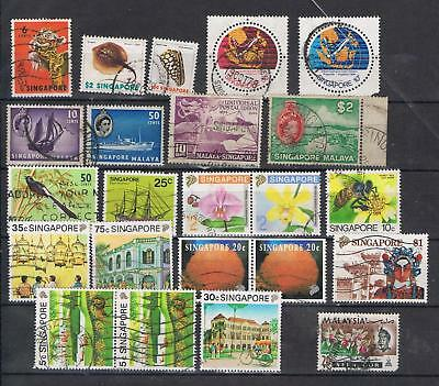 Singapore 1949 to 1971 selection 23 stamps Used