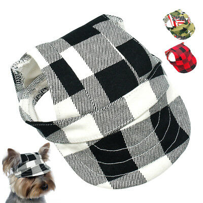 Pet Dog Cat Sun Hat Canvas Summer Sun Protect Baseball Cap Outdoor Sunbonnet