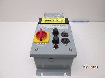 Marelco 480-0750AEY .800 kva Auxiliary Power Disconnect 480/575 -120vac New