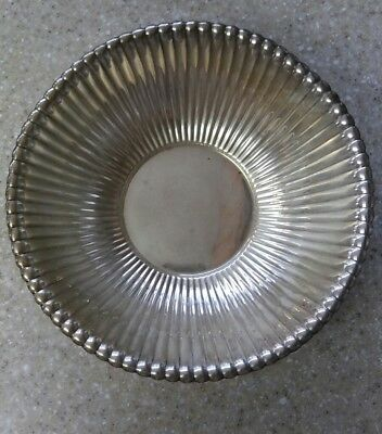 """Antique Reed & Barton Sterling Silver 9"""" Ribbed Fluted Bowl 431 Grams"""