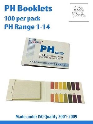 pH Paper booklets 1-14 @ 80 strips