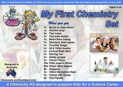 My First Chemistry Set Ages 8+ beaker lab kit