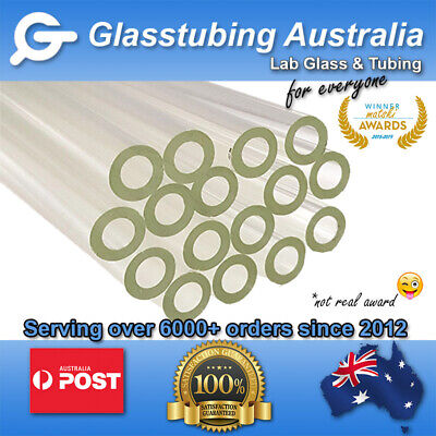 Glass Tubing  10mm 2.2mm wall Super Thick borosilicate 3.3 blowing tubes pyrex